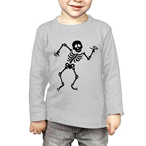 Led Sound Activated El T-shirt - Skeleton Children's Long-sleeved T