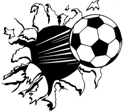 budhasuite Vinilo Decorativo Balón Futbol S .(33x30cm Aprox ...