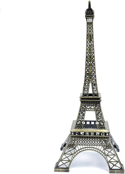 Nuevo Home Decoración Torre Eiffel Metálico Modelo Bronce ...