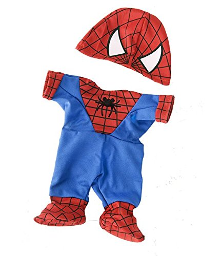 Spidey Teddy outfit Teddy Bear Clothes Fits Most 14-18 Build-A-Bear and Make Your Own Stuffed Animals Teddy Mountain 2232