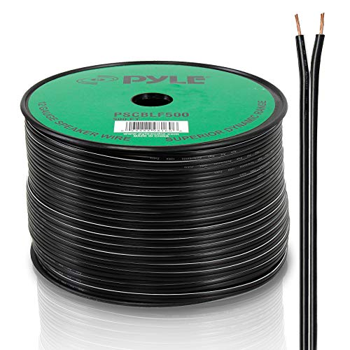 Awg 500' Spool - Pyle-Pro PSCBLF500 500 Feet 12 AWG Spool Speaker Cable with Rubber Jacket
