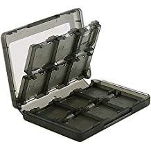 Nintendo Switch Game Card Case Holder For Nintendo NEW 3DS / 3DS / DSi / DSi XL / DSi LL / DS / DS Lite Cartridge Storage Solution Box,24-in-1 Game Card Storage Box(Black)