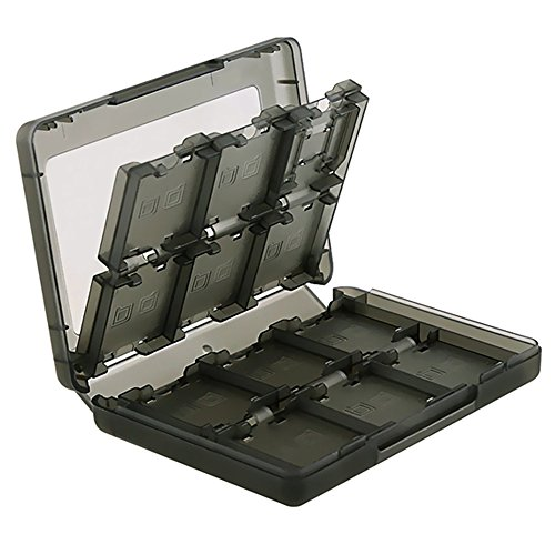 Ninendo Box Insten 28-in-1 Game Card Case Nintendo for NEW 3DS / 3DS / DSi / DSi XL / DSi LL / DS / DS Lite Cartridge Storage Solution Box, Black