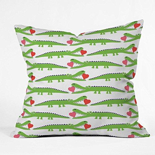 Deny Designs Andi Bird Alligator Love Throw Pillow, 16 x 16