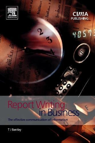 Report Writing in Business (CIMA Exam Support Books) by Brand: CIMA Publishing