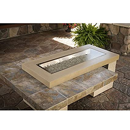 88,000 BTU Outdoor Greatroom Uptown Gas Fire Pit with 42x12 Inch-high BTU fire pit table