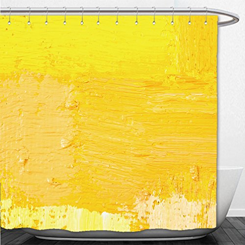 Interestlee Shower Curtain abstract wallpaper texture background of close up fragment of oil painting on canvas with brush 290187137