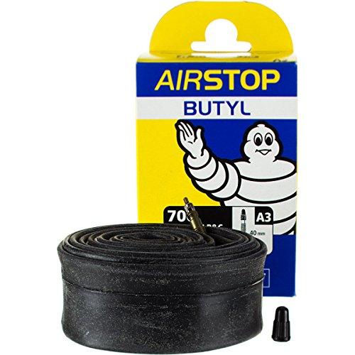 Michelin Airstop Butyl Tube - Michelin A1 Airstop Road Presta Valve Inner Tube, 700 x 18-25cm, Black