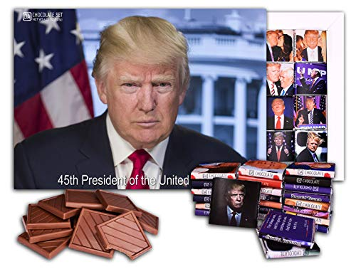 DA CHOCOLATE Chocolate gifts TRUMP funny gift for everyone 5x5in 1 box (Big Box Prime) (Gift Christmas Clinton Boxes Cards)