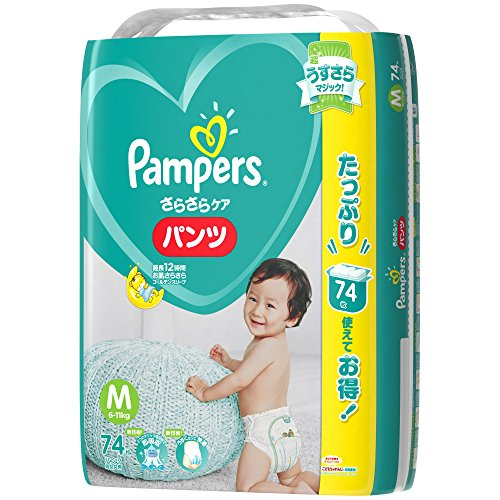 Pampers Diapers -Pampers pants M-size(7-12kg) 74 sheets [Japanese Import] by Pempers