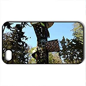 Search_Bostoren - Case Cover for iPhone 4 and 4s (Modern Series, Watercolor style, Black)