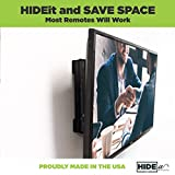 HIDEit Uni-M | Patented Adjustable Set-top Box Mount, PlayStation Bracket, Cable Box Storage, Satellite Receiver, Security DVR, Component Shelving Solution Made in the USA