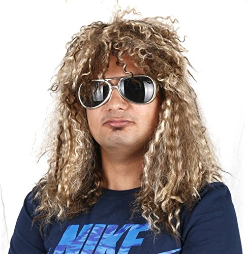 Halloween Rock Band Costumes (Rockstar Costume wig - Heavy Metal - #1 Quality 80s Rocker wig)