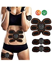 Muscle Stimulator,EMS Abs Trainer Abdominal Belt,Muscles Toner for Abs Arms Legs,Ab Belt Toning Gym Workout Machine For Men & Women