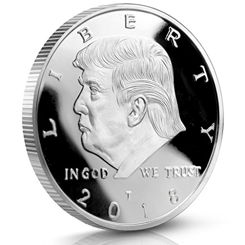 Silver Plated Safe (Donald Trump Challenge Coin 2018 - Silver Plated in the Commemorative Collectors Edition Series. Stunning Proof Like Coins. A Michael Zweig Designer Coin for Presidential Mint)
