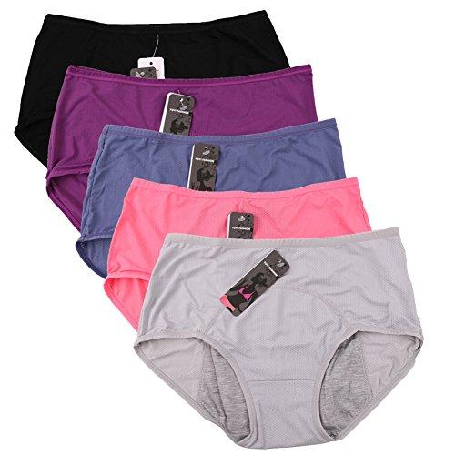 women-mesh-holes-breathable-leakproof-period-panties-5-pack-us-size-xs-4-s-5-blue-black-gray-purple-
