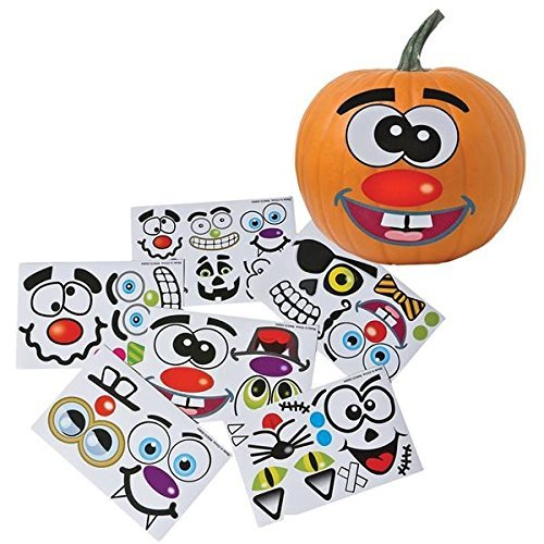 Make Your Own Jack O Lantern Halloween Sticker Set (Package of 12 Sticker Sheets) (Quick Halloween Decorations To Make)