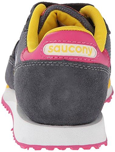 Saucony Originals Damen DXN Trainer Fashion Sneaker Holzkohle / Pink