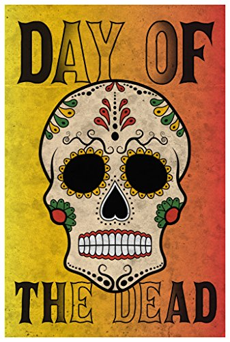 [Day Of The Dead Sugar Skull Poster Wall Print|Inspirational Motivational Classroom Home Office Dorm|18 X 12] (Catrina Sugar Skull Costume)