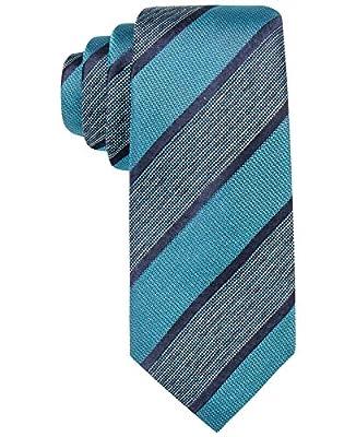 Alfani Men's Sullivan Stripe Silk Slim Tie