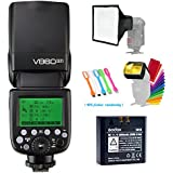 Godox V860II-F TTL GN60 2.4G High-Speed Sync 1/8000s Li-ion Battery Camera Flash Speedlite for Fujifilm Camera+15x17cm Softbox & Filter +USB LED Free Gift