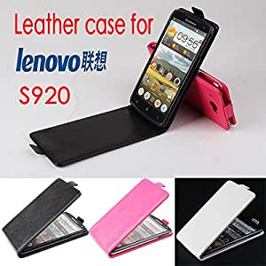 High Quality New Original Lenovo S920 Leather Case Flip Cover for Lenovo S 920 Case Phone Cover In Stock Free Shipping --- Color:White