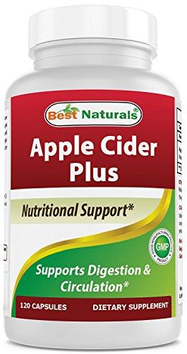 - Best Naturals Apple Cider Vinegar Plus 500 Mg Capsules, 120 Count