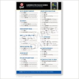 Garmin GTN 750/650 - Qref Quick Reference Checklist Card