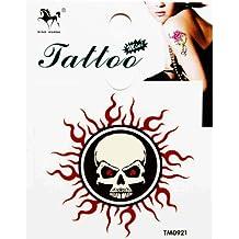 GGSELL King Horse Waterproof tattoo sticker color totem sun skeleton
