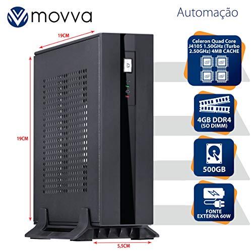 MINI COMPUTADOR INTEL QUAD CORE J4105 1.50GHZ MEM. 4GB DDR4 HD 500GB HDMI/VGA FONTE EXTERNA 60W LINUX - MOVVA