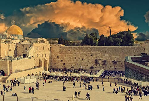 - 7x5ft Ancient Old City Jerusalem Historical Religious Center Western Wall Major Jewish Sacred Place View Pictorial Cloth Customized Photography Backdrop Digital Printed Background Photo Studio Prop 86