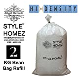 Style Homez 2 Kg High Density Bean Bag Refill for Bean Bags