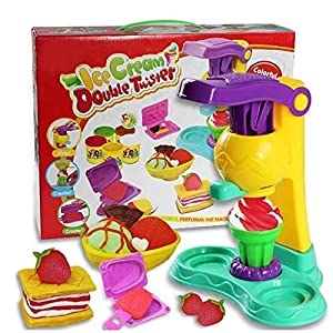 Children's Toy Color Clay Handmade Ice Cream Colored Clay 3d Plasticine Safety Flour Soft Clay
