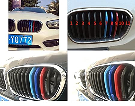11 Griglie lomgzhimei Adatto per 2015-2017 1 series F20 F21 M-Colored Rene Griglia Radiatore Auto M-Sport Anteriore Griglia 3pcs