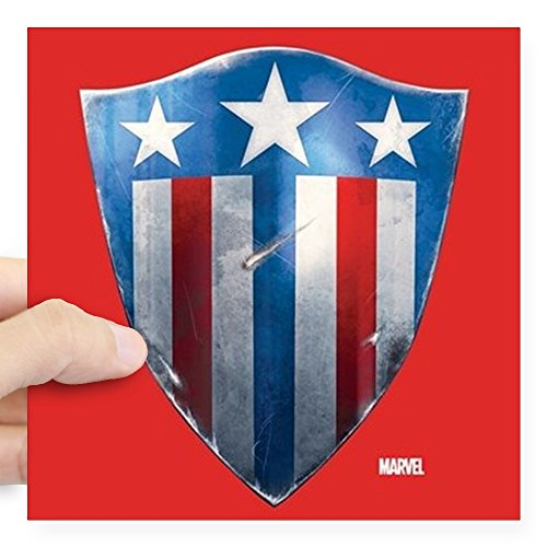 CafePress Captain America Retro Shiel Square Sticker 3 X 3 Square Bumper Sticker Car Decal, 3