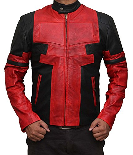 Deadpool Costume Colors (Deadpool Costume for Halloween 2017 - Cosplay Leather Jacket PU | Red, L)