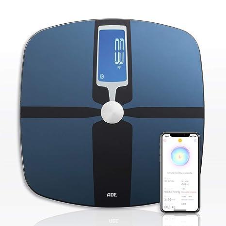 ADE Báscula de análisis corporal BA1600 FITvigo. Excelente App. gratuita. Peso hasta 180kg