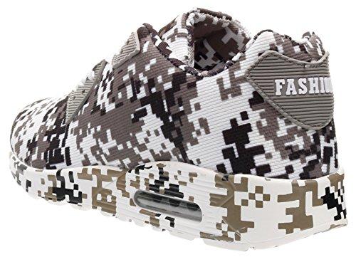 46 JOOMRA Unisex Deporte Adulto Camuflaje 3 Camuflaje Colores Zapatillas 36 Blanco de qwAxzrRq