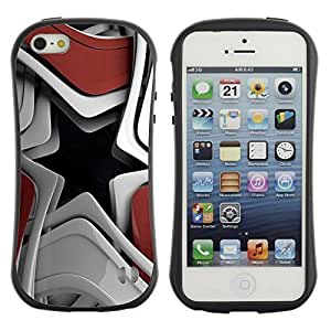 "Hypernova Slim Fit Dual Barniz Protector Caso Case Funda Para Apple iPhone SE / iPhone 5 / iPhone 5S [Resumen de la estrella""]"