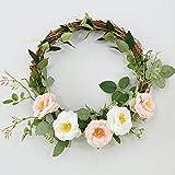 Wedding Door Wreath Summer Wreaths Front Door Wreaths,Rattan Wreath Everyday Wreath,Farmhouse Wreath,Year Round Wreath