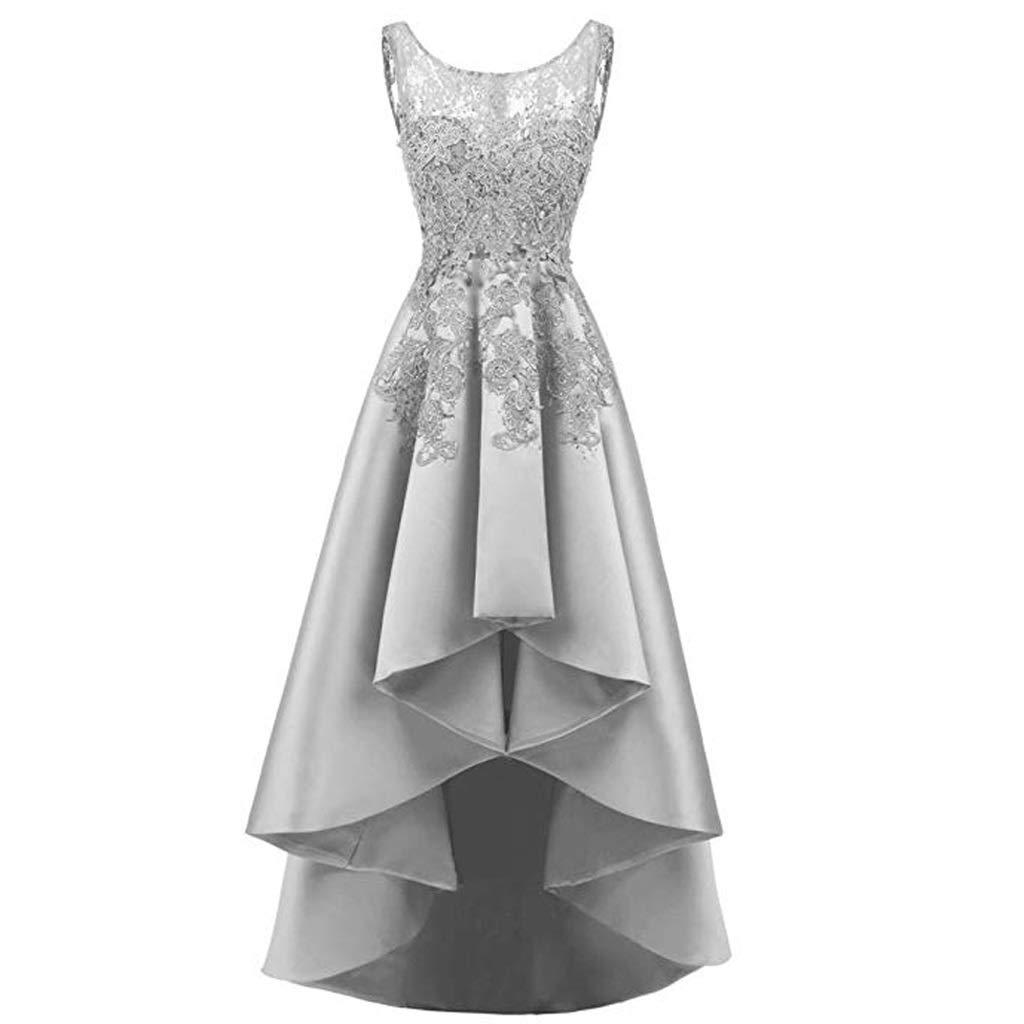 【ご予約品】 エレガントなレースのバックロングショート女性のイブニングドレスの花嫁介添人ドレスラウンドネックノースリーブ8色 B07QL1Z23K B07QL1Z23K US:14|グレー グレー グレー US:14|グレー US:14, 輸入家具通販 ax design:e63b1e79 --- a0267596.xsph.ru