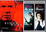 Clint 3 Feature Eastwood Films Gauntlet Enforcer Dirty Harry Collection + Blood Work Crime Movie Bundle pack