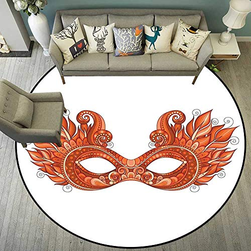 (Circle Floor mat Under Bed Round Indoor Floor mat Entrance Circle Floor mat for Office Chair Wood Floor Circle Floor mat Office Round mat for Living Room Pattern 5'3