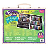 Darice (1103-10) 131-Piece Premium Art Set - Art Supplies for Drawing, Painting and More in a Wood Case - Makes a Great Gift for Children and Adults