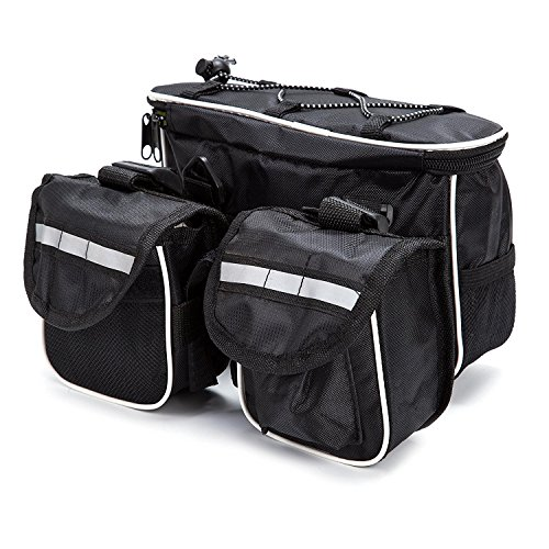 4 in 1 Saddle Bike Bag Multi-function Organizer Pannier Top Tube Frame with Rainproof Cover for Mountain Bike Cycling Road Bicycle Seat - Pannier 1