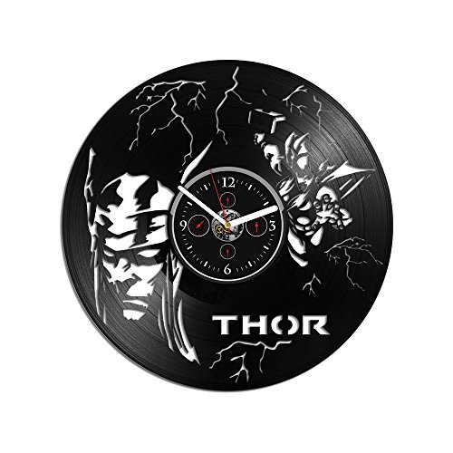 - RainbowClocks Thor Vinyl Clock Avengers Clock Vinyl Record Wall Clock Thor Gift Wall Clock Large Thor Clock Thor Wall Clock Gift For Kids Marvel Comics Clock Thor Gift 12 inch Clock