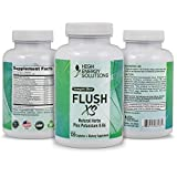 HIGH ENERGY SOLUTIONS Flush XS 120 Capsules Herbal Diuretic Supplements For Water Retention, PMS, Edema, Blood Pressure, Bloating Maximum Strength (1396mg/Serving) - GMP - USA