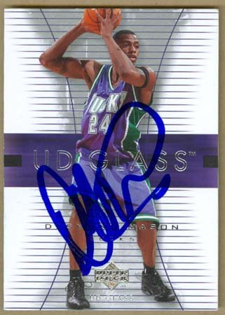 Mason Autographed Basketball - Autograph Warehouse 19144 Desmond Mason Autographed Basketball Card Milwaukee Bucks 2004 Upper Deck No. 31