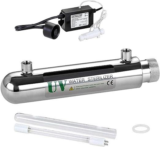 MONA@FILTER Sistema de Tratamiento de Filtro de Agua UV 12W 0.2m3 ...