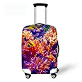 Showudesigns Coral Sea Thick Protect Suitcase Luggage Cover with Zipper for Air Travel